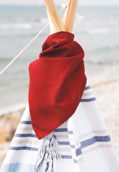 Pañuelo picniquero para tipi Rojo