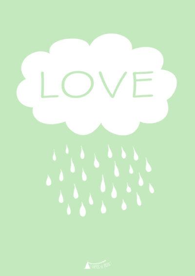 Nube LOVE verde Menta