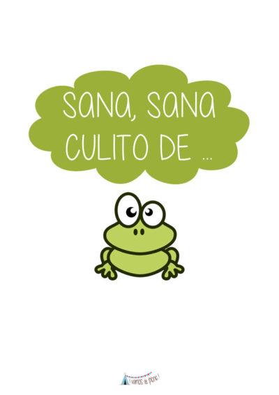 Lámina Sana, Sana Culito de Rana