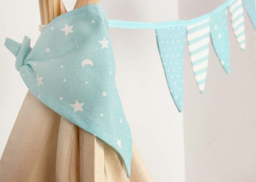 Guirnalda de banderines azul