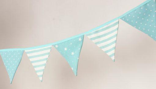 banderines azul estrellitas