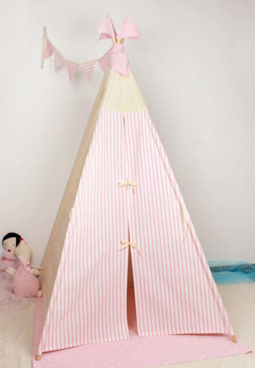 tipi modelo puertas combinadas rayas rosas